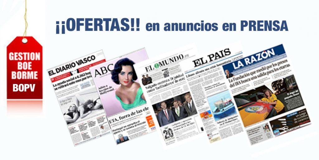 periodicos, anuncios financieros